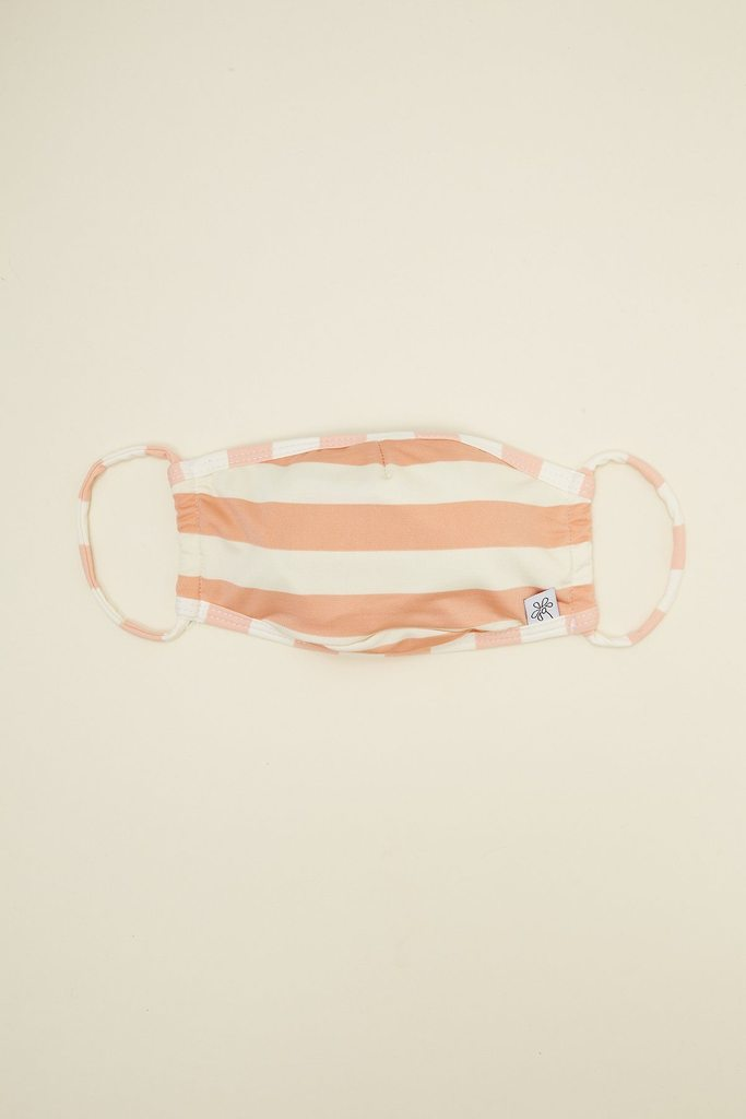 Beach Stripes Coral Face Mask