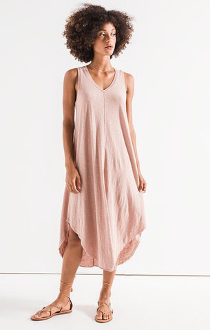 Honopu Silk Dress Hibiscus