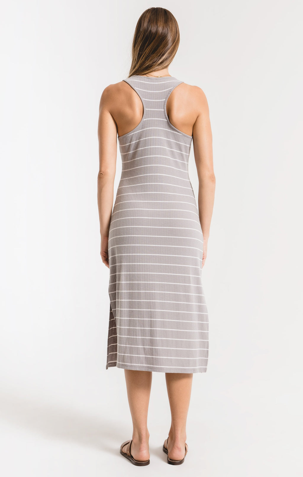 Seri Stripe Rib Tank Dress