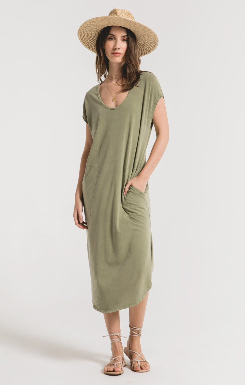 Leira Midi Dress Light Sage