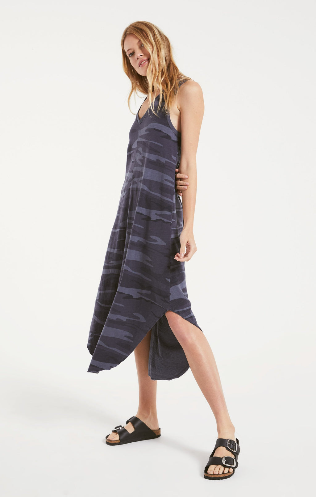 Reverie Dress Dark Blue Camo