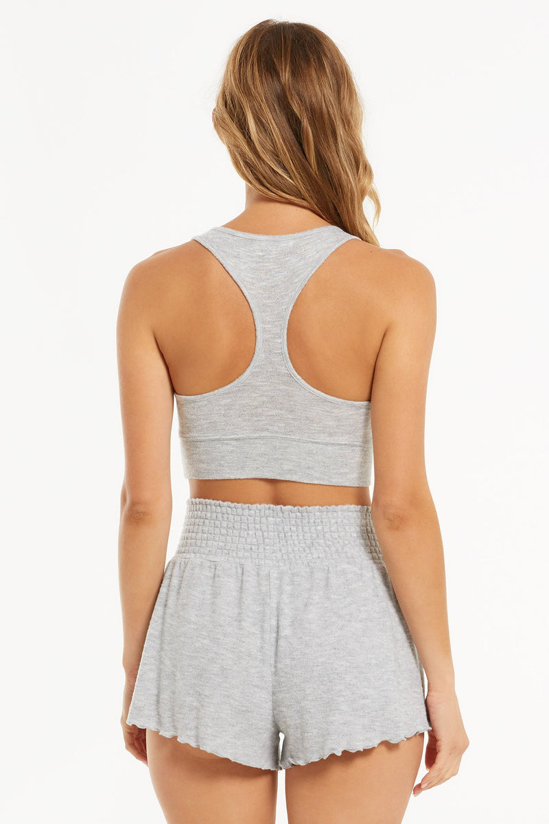 Sia Slub Tank Bra Heather Grey
