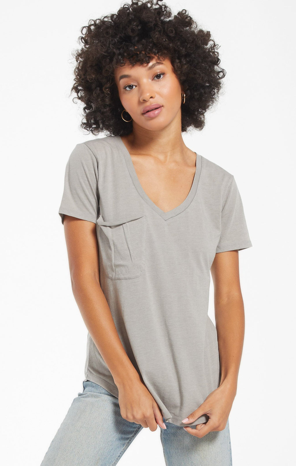 Pocket Tee Dusty Sage