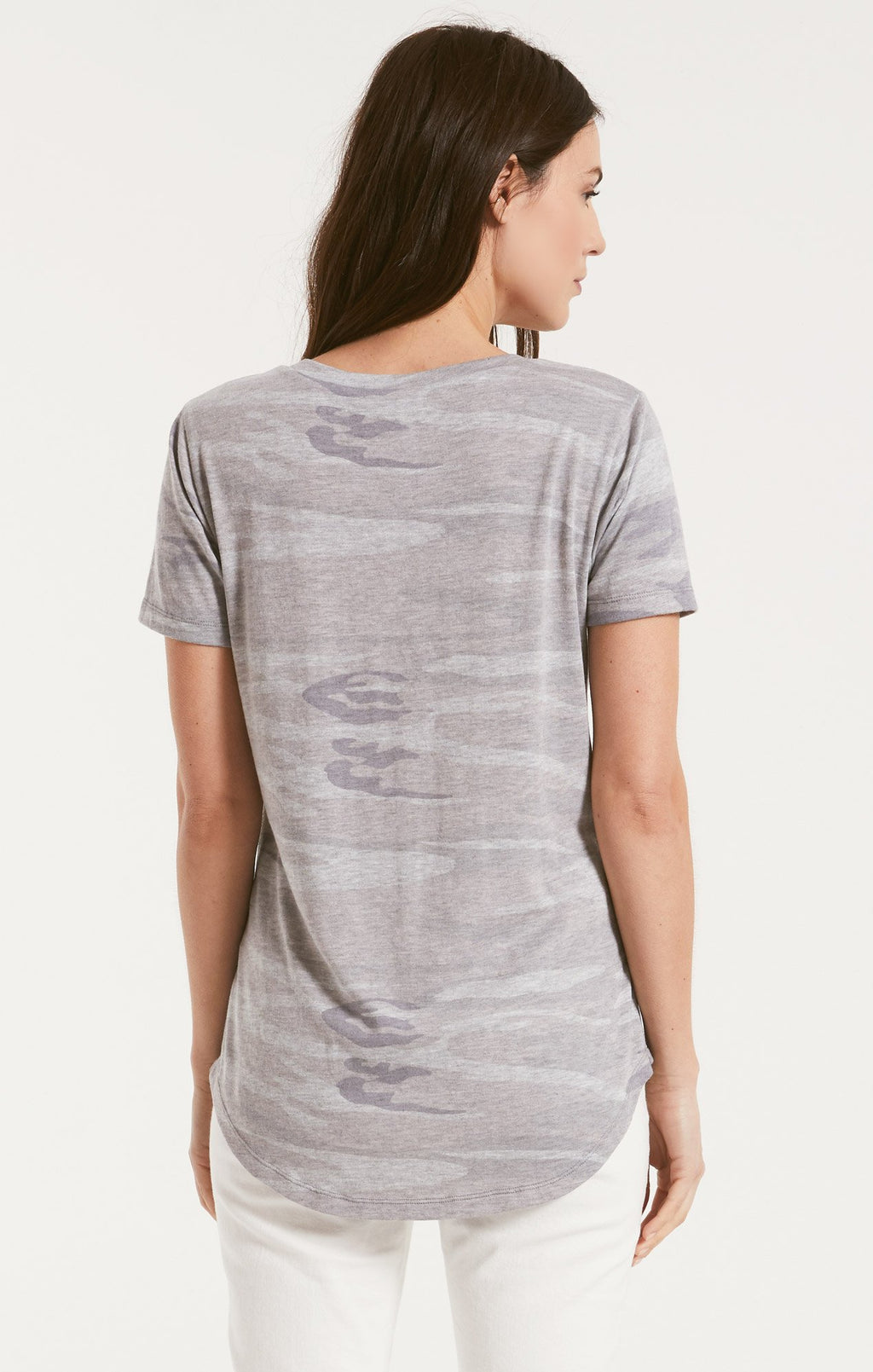 Camo Pocket Tee Heather Grey
