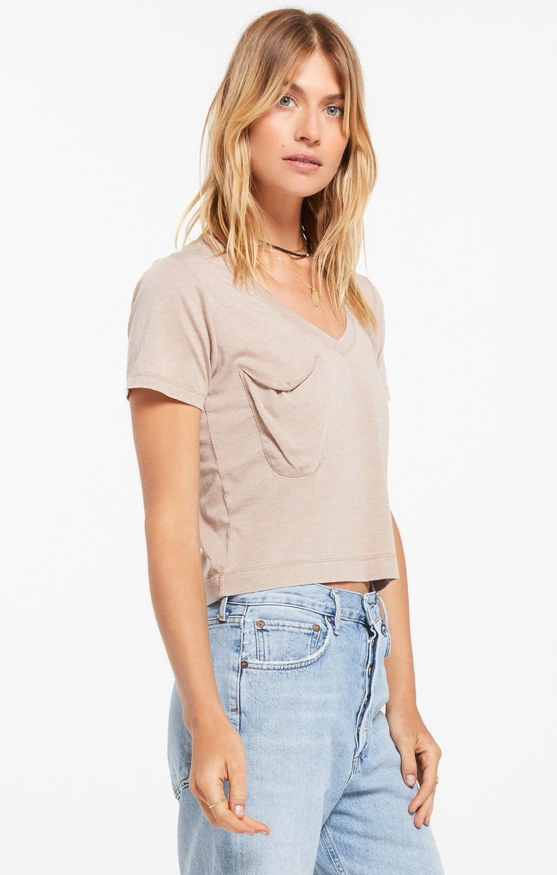Skimmer Tee Taupe