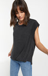 Riley Speckle Tee Black