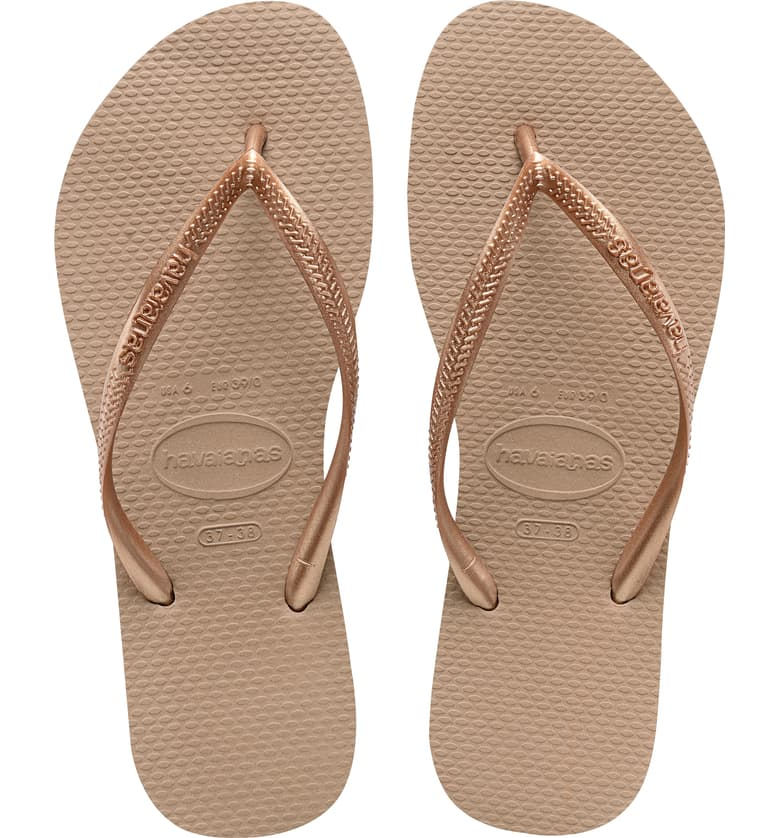 Slim Sandals Rose Gold