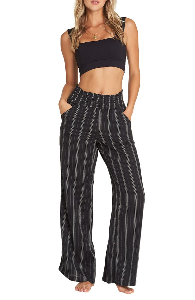 New Waves Pant Black Stripe