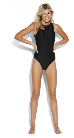 La Luna High Neck One Piece Antigua Blue