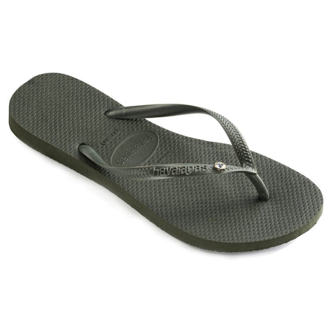 Slim Tropical Strap Sandal Black