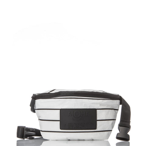 Black Pinstripe Hip Pack