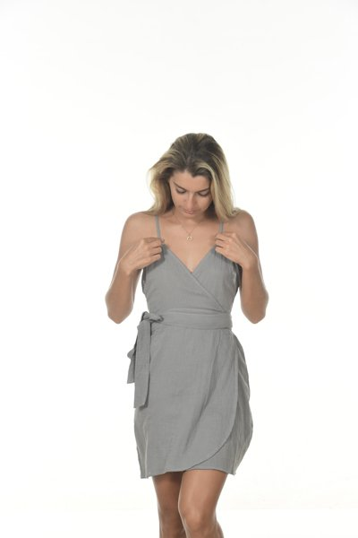 Namibia Dress Double Cotton Platinum