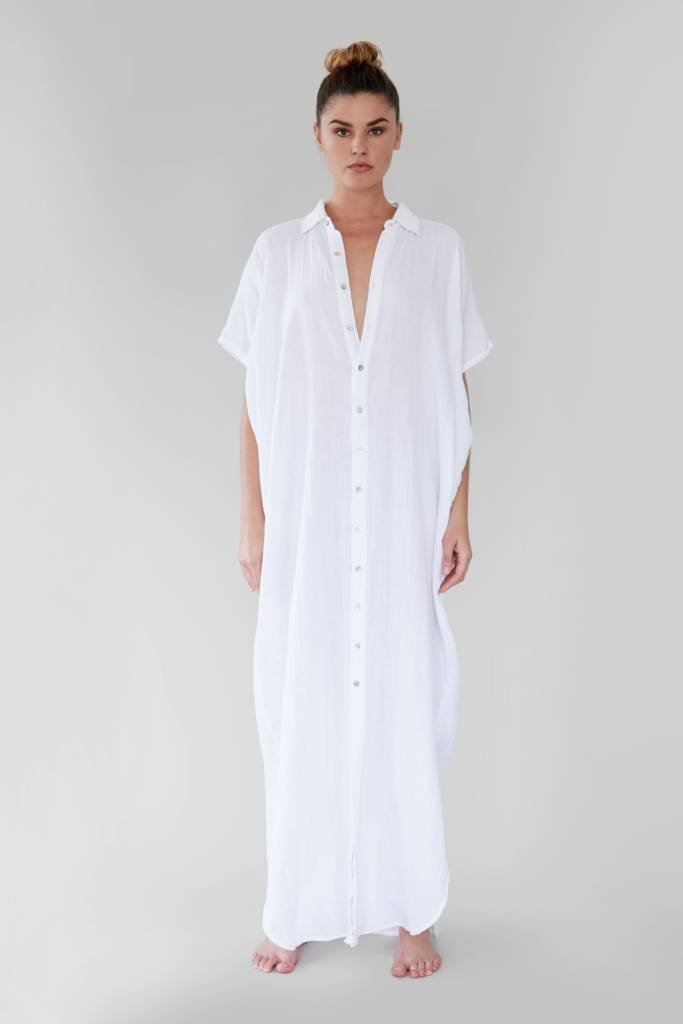 Oahu Dress White Wash