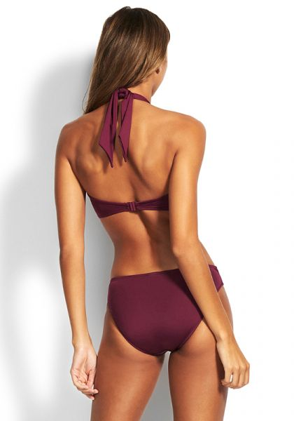 Seafolly Bandeau Boysenberry