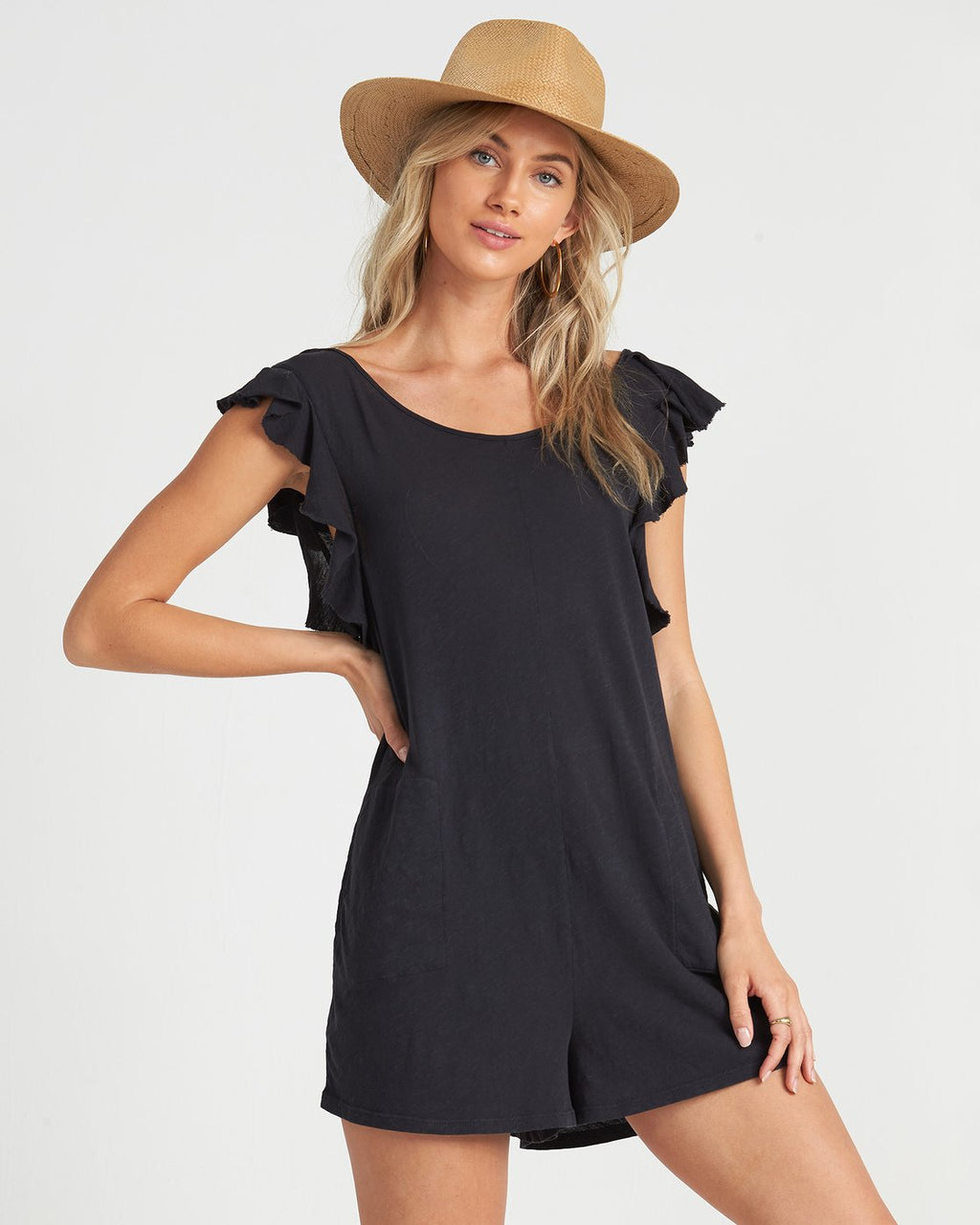 Wave Break Romper Black