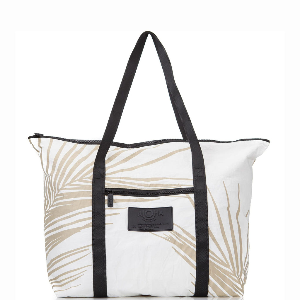 Fronds Zipper Tote Sands
