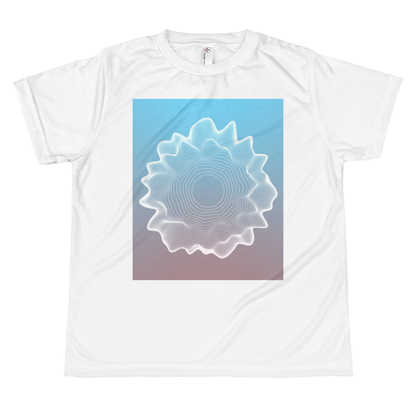 Concentric circles // All-over youth sublimation T-shirt