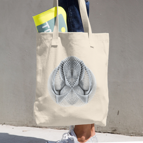 Generative Rorschach 1 // Cotton Tote Bag