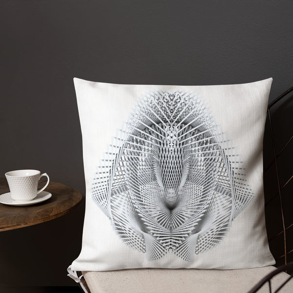 Generative Rorschach 3 // Premium Pillow