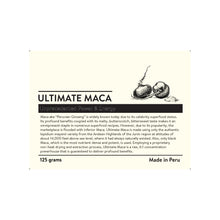 Load image into Gallery viewer, ULTIMATE MACA (6:1 COLD EXTRACT BLACK MACA)