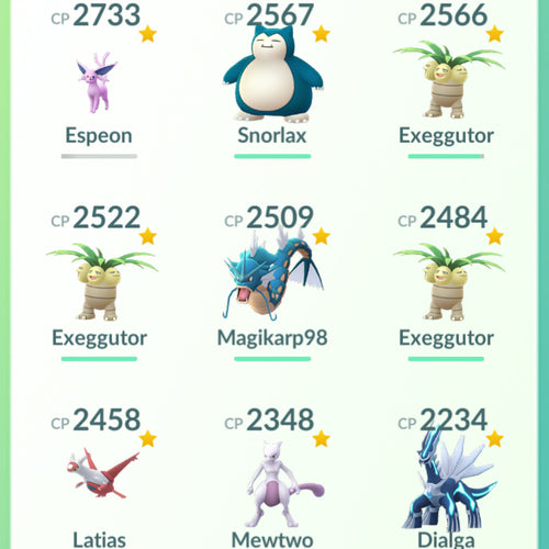 Legendary Account - 30 level - Team Mystic #588