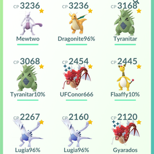 Legendary Account - 33 level - Team Mystic #329