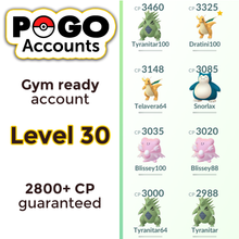 Load image into Gallery viewer, Gym Ready - Level 30 Account - www.pogo-accounts.shop