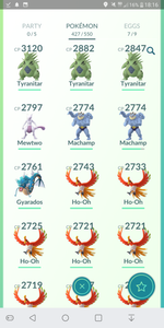 Legendary Account - 36 level - Team Mystic #145