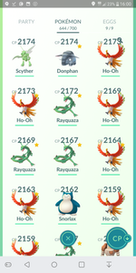 Legendary Account - 37 level - Team Mystic #171