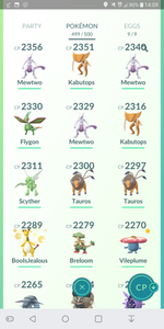 Legendary Account - 37 level - Team Mystic #180