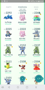 Legendary Account - 34 level - Team Mystic #181