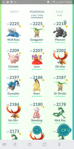 Legendary Account - 40 level - 1360 Pokemon - Valor Team #4