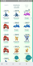 Load image into Gallery viewer, Legendary Account - 40 level - 1760 Pokemon - Team Mystic #198