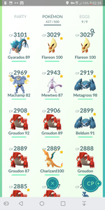 Legendary Account - 38 level - Team Mystic #216
