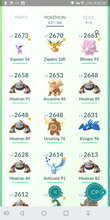 Load image into Gallery viewer, Legendary Account - 38 level - Team Mystic #216