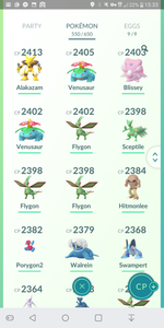 Legendary Account - 40 level - 550 Pokemon - Team Valor #231