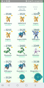 Legendary Account - 35 level - Team Mystic #266