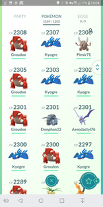 27000 Pokecoins - 37 level - Team Instinct #285