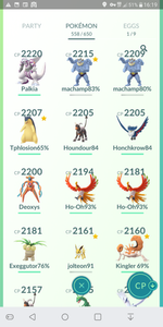 Legendary Account - 36 level - Team Mystic #334
