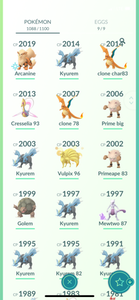 Legendary Account - 40 level - 1080 Pokemon - Team Mystic #788