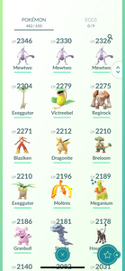 Legendary Account - 35 level - 482 Pokemon - Team Mystic #794