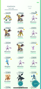 Legendary Account - 36 level - 514 Pokemon - Team Valor #756