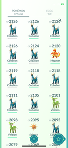 Legendary Account - 34 level - 377 Pokemon - Team Mystic #777