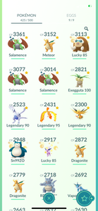 Legendary Account - 35 level - 425 Pokemon - Team Mystic #832