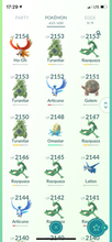 Load image into Gallery viewer, Legendary Account - 39 level - 615 Pokemon - Team Mystic #452