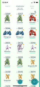 Legendary Account - 34 level - Team Mystic #453
