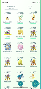 Legendary Account - 36 level - 142 Pokemon - Team Instinct #726
