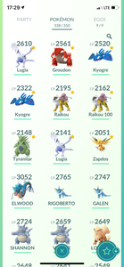 Legendary Account - 32 level - Team Mystic #522