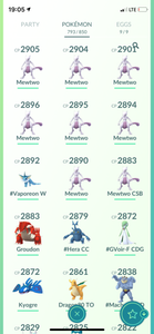 Legendary Account - 38 level - 793 Pokemon - Team Mystic #528