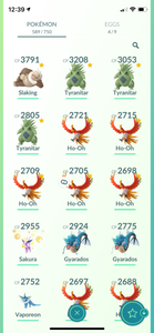 Legendary Account - 34 level - 589 Pokemon - Team Mystic #706